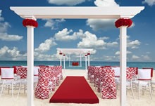 Romantic Red destination wedding