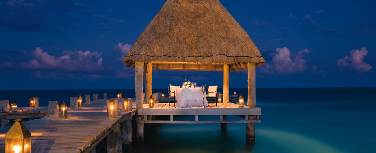 Added Values program may include candlelight dinners on the beach or other special locations in your destination wedding resort.