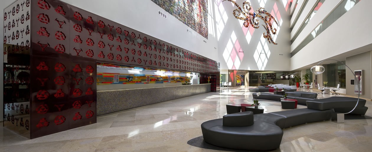 Live, love and party like a Rock star at the Hard Rock Vallarta chic lobby.