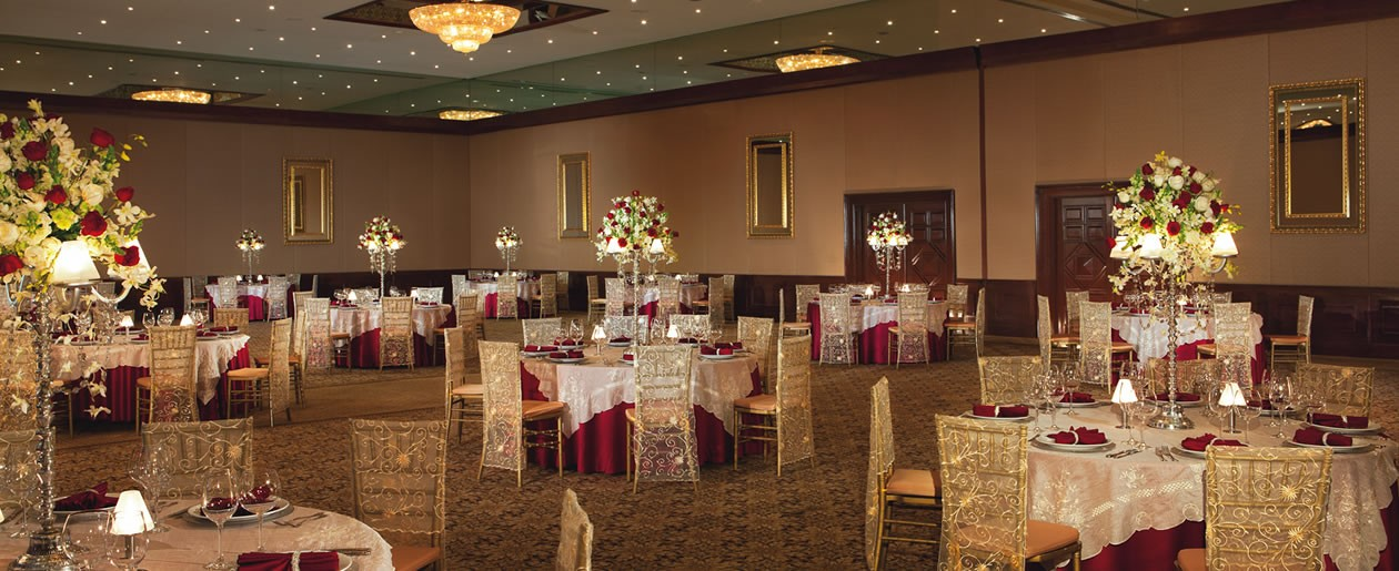 The ballroom at Now Sapphire can accommodate a variety of large incentive events or weddings.