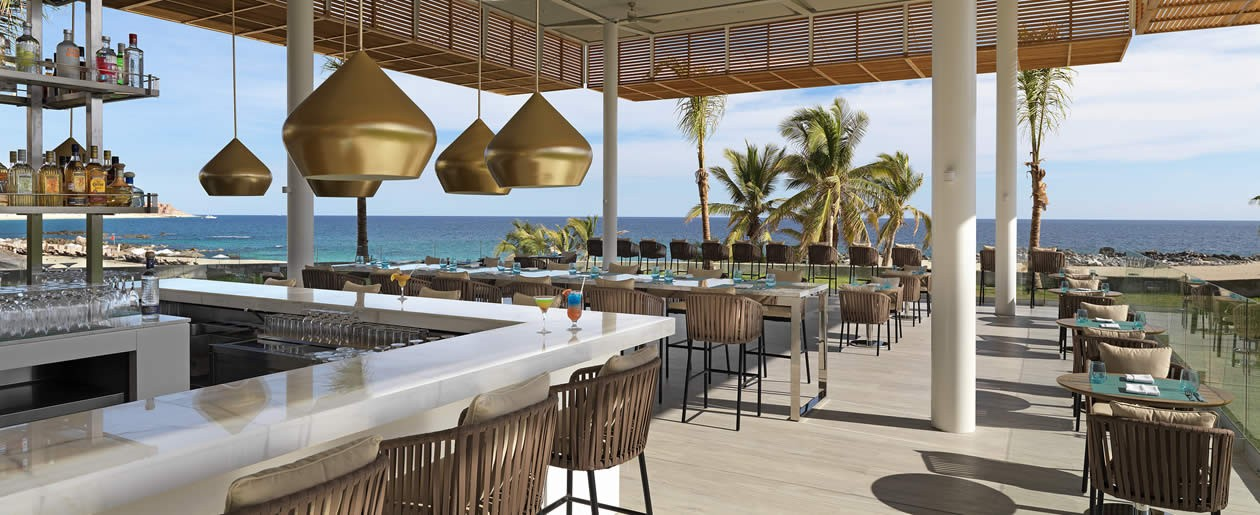 Gabi Beach Club restaurant by the pool is one of seven at the all-inclusive resort.