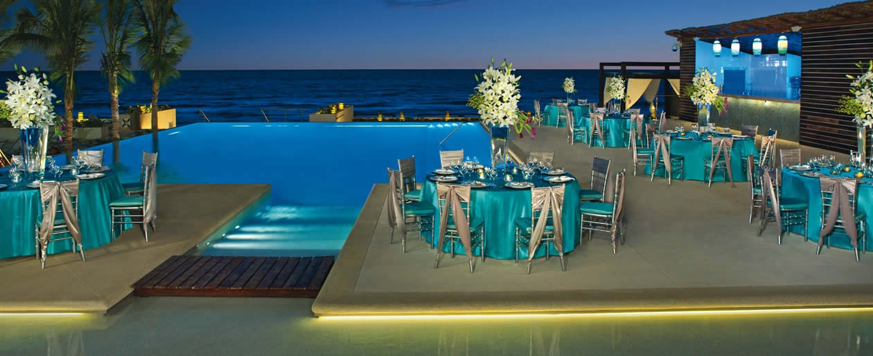 Groups can enjoy an elegant set-up for their special occasion at Secrets The Vine Cancun.