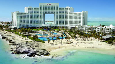 Riu Palace Peninsula Cancun Anniversary Beach Wedding